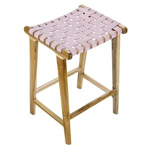laz9 300x300 - Lazie Leather Bar Stool - Blush Pink