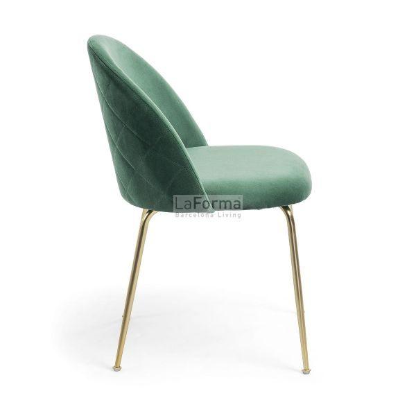mys6 600x600 - Mystere Dining Chair - Emerald Velvet/Gold