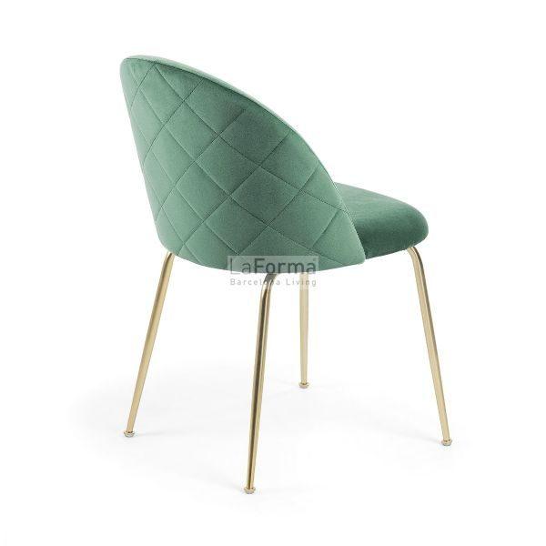 mys7 600x600 - Mystere Dining Chair - Emerald Velvet/Gold
