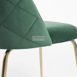 mys8 300x300 - Mystere Dining Chair - Emerald Velvet/Gold