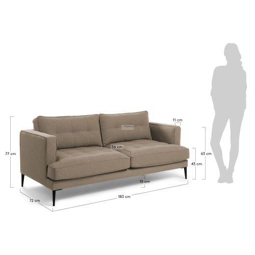 s489ld03 3m 500x500 - Vinny Fabric 3 Seater Sofa - Stone