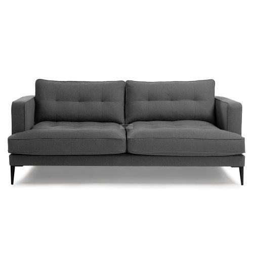 s489ld15 3b 500x500 - Vinny Fabric 3 Seater Sofa - Dark Grey
