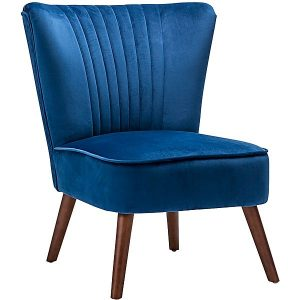 vel 300x300 - Velvet Slipper Accent Chair- RoyalBlue