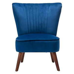 vel1 300x300 - Velvet Slipper Accent Chair- Royal Blue