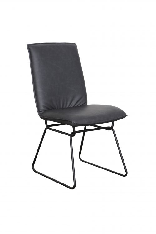 A1.25 Detroit Gunmetal PU 500x750 - Detroit Dining Chair - Gunmetal