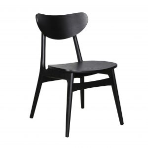 A1.31 Finland Chair Black Veneer 300x300 - Finland Dining Chair - Black frame and seat