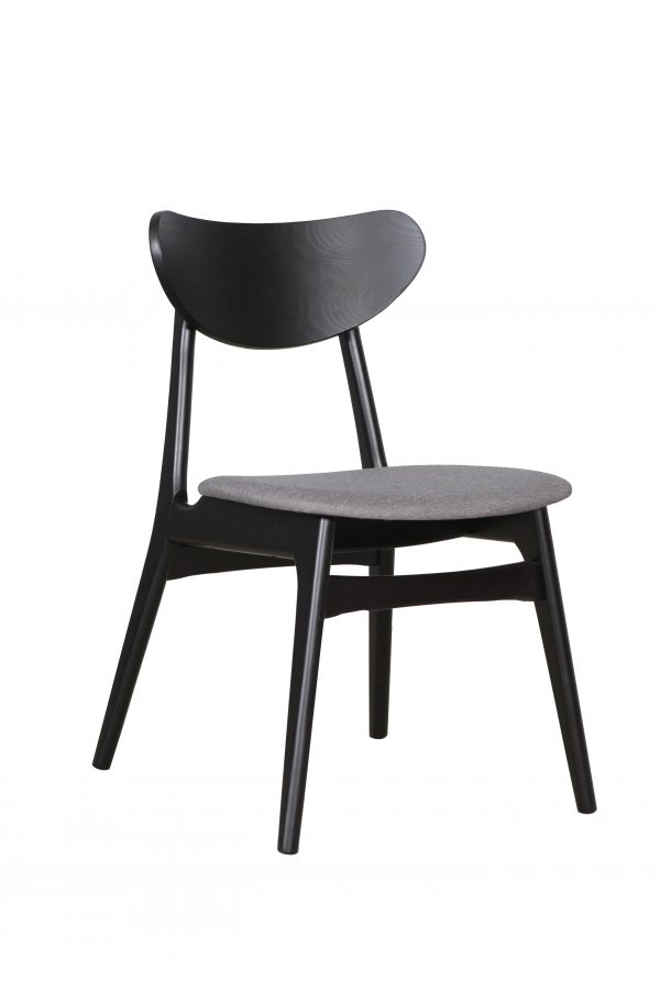 A1.32 Finland Chair Truffle Black 1 600x903 - Finland Dining Chair Black - Truffle seat