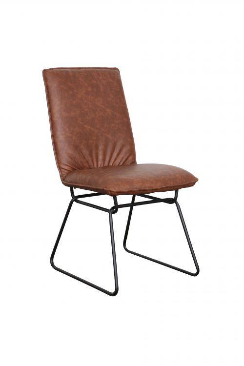 Detroit chair Saddle Black 500x750 - Detroit Dining Chair - Saddle