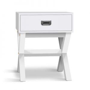 Shane 300x300 - Shane Bedside Table - White