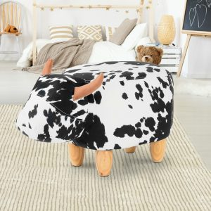 UPHO C ANIMA COW WH BK 06 300x300 - Connie Cow Animal Stool