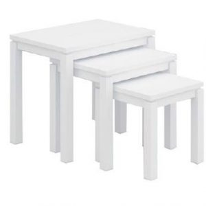 VCT 034 W 300x300 - Cubist Nest Of 3 Tables - White