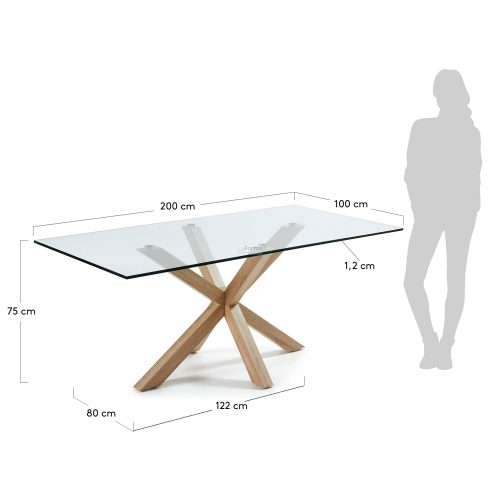 c429c07 3m 500x500 - Arya 2000 Dining Table Glass Top - Timber Look Steel Base
