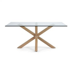 c430c07 3b 300x300 - Arya 1800 Dining Table Glass Top - Timber Base