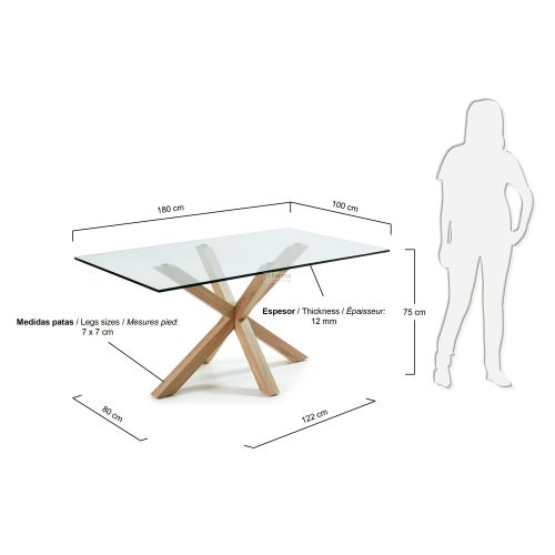 c430c07 3m 500x500 - Arya 1800 Dining Table Glass Top - Timber Look Steel Base