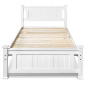 james2 300x300 - James King Single Wooden Bed - White