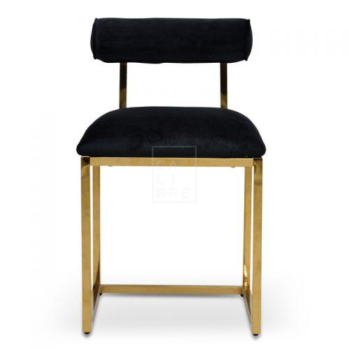 jan 1 500x500 - Janelle Dining Chair - Black Velvet