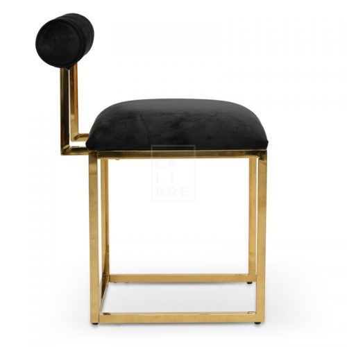 jan1 500x500 - Janelle Dining Chair - Black Velvet