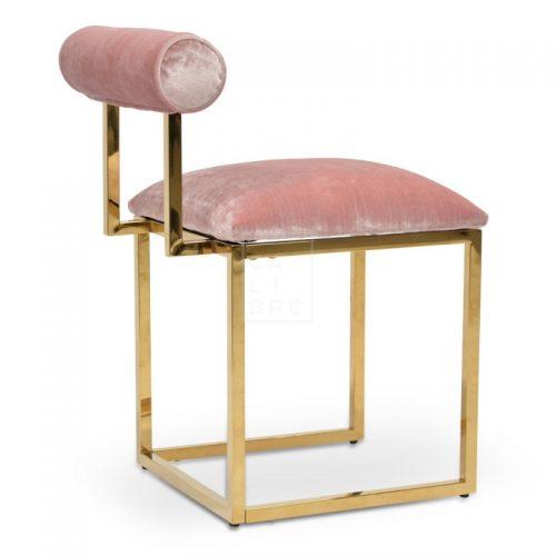 janz2 500x500 - Janelle Dining Chair - Pink Velvet