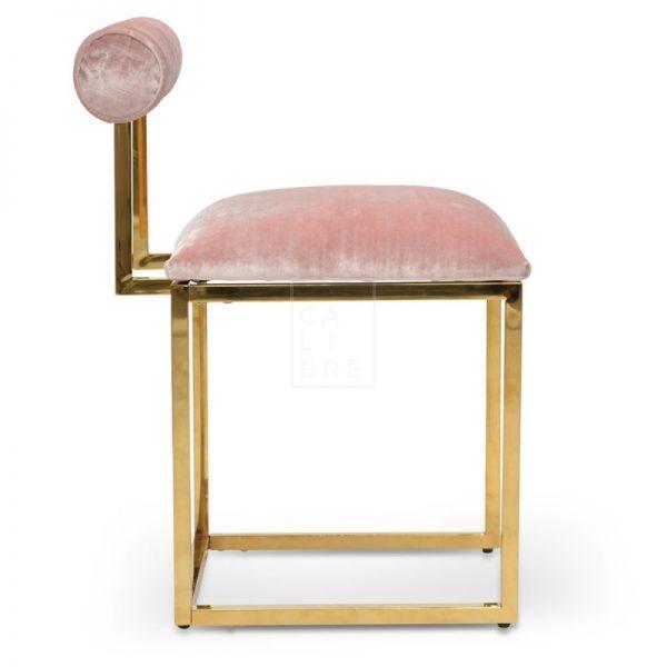 janz3 600x600 - Janelle Dining Chair - Pink Velvet