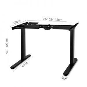 jenna13 300x300 - Jenna Motorised Height Adjustable Standing Desk - White Oak