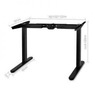 jenna22 300x300 - Jenna Motorised Height Adjustable Standing Desk - White