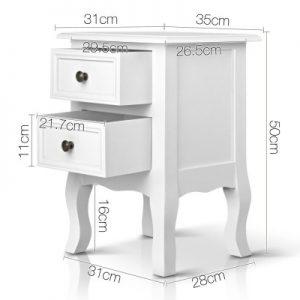 mali1 300x300 - Mali Bedside Table - White