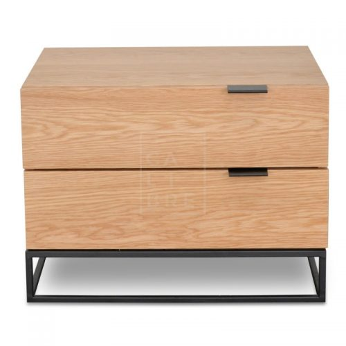 mark 500x500 - Mark Bedside Table - Natural Oak