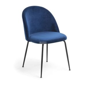 myst5 300x300 - Mystere Dining Chair - Navy Blue Velvet/Black