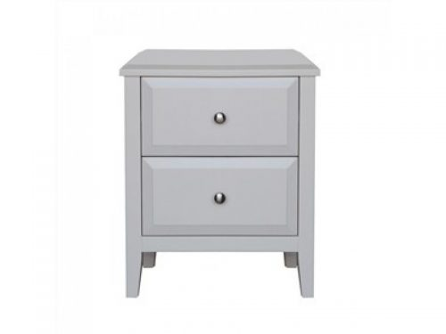 paris bedside table in matt white 500x375 - Paris 2 Drawer Bedside