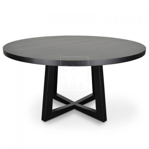richo1 500x500 - Richo 1500 Round Dining Table - Black