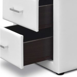 roz11 300x300 - Rozanne PVC Bedside Table - White