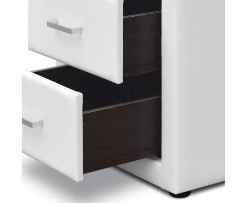 roz11 - Rozanne PVC Bedside Table - White