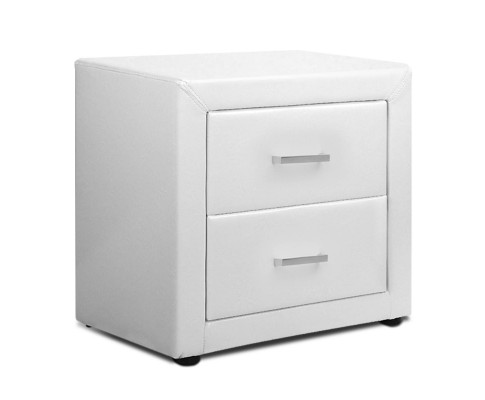 roz6 - Rozanne PVC Bedside Table - White
