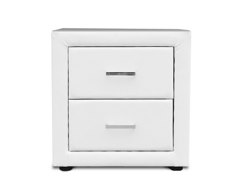 roz9 - Rozanne PVC Bedside Table - White