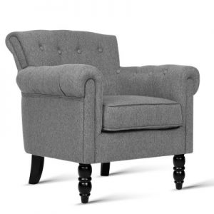 sherine6 300x300 - Sherine Armchair - Light Grey