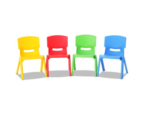 tahsha - Tahsha Set of 4 Stackable Chairs - Multi Coloured