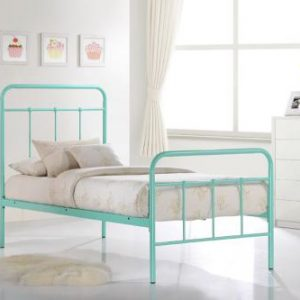 vintage single bed 300x300 - Vintage Teal Bed - Single