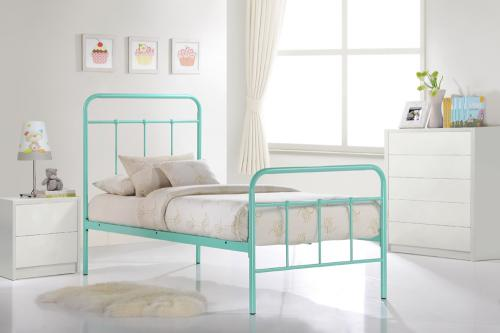 vintage single bed - Vintage Teal Bed - Single