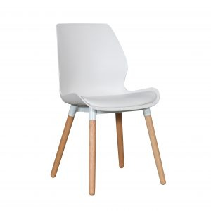 B2.21 Europa Chair White Nat 1 300x300 - Europa Dining Chair White seat - Natural Legs