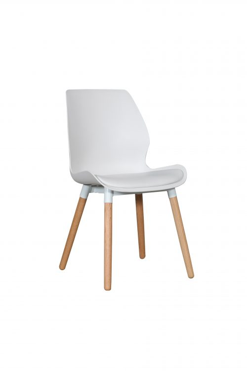 B2.21 Europa Chair White Nat 1 500x750 - Europa Dining Chair White seat - Natural Legs