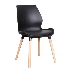 B2.22 Europa Chair PP black Nat 300x300 - Europa Dining Chair Black seat - Natural legs