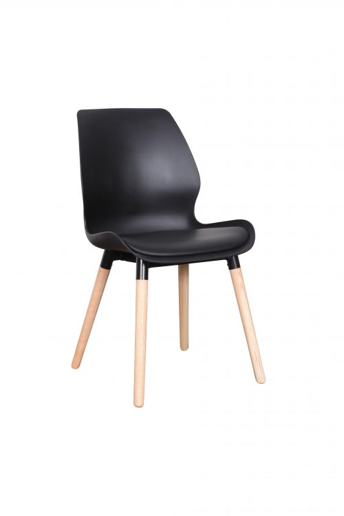 B2.22 Europa Chair PP black Nat 500x750 - Europa Dining Chair Black seat - Natural legs