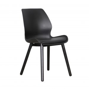 B2.23 Europa Chair Black Black 1 300x300 - Europa Dining Chair - Black seat - Black legs