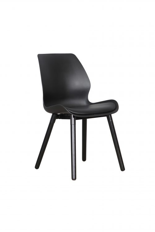 B2.23 Europa Chair Black Black 1 500x750 - Europa Dining Chair - Black seat - Black legs