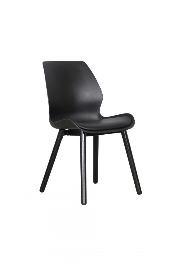 B2.23 Europa Chair Black Black 1 600x900 - Europa Dining Chair - Black seat - Black legs