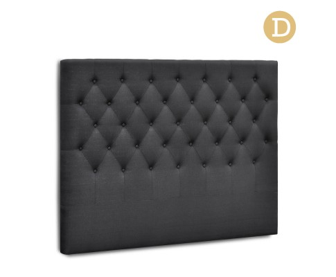 BFRAME E HEAD D CHAR 00 - Arthur Upholstered Headboard Charcoal-Double