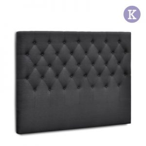 BFRAME E HEAD K CHAR 00 300x300 - Arthur Upholstered Headboard Charcoal-King