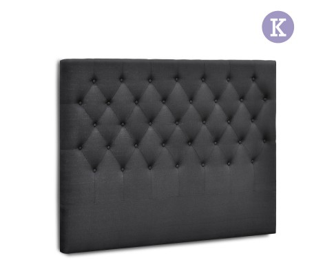 BFRAME E HEAD K CHAR 00 - Arthur Upholstered Headboard Charcoal-King