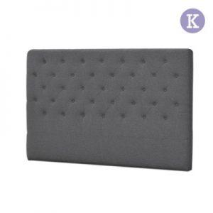 BFRAME E HEAD K GY 00 300x300 - Lexi Upholstered Headboard Grey-King