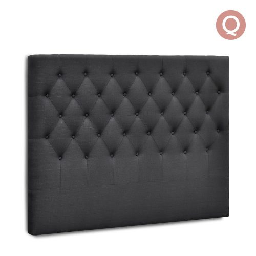 BFRAME E HEAD Q CHAR 00 500x500 - Arthur Upholstered Headboard Charcoal-Queen